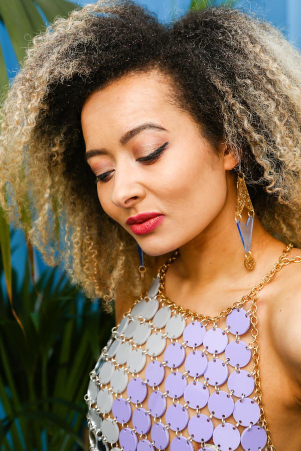 2 DROP GEO; Glitter and Fluorescent Perspex Earrings   Festival & Party Jewellery   Kokomo Design   Bristol