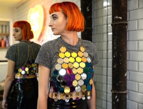 DISCO BZZAAR; Mirrored Perspex Top   Festival & Party Top   Kokomo Design   Bristol