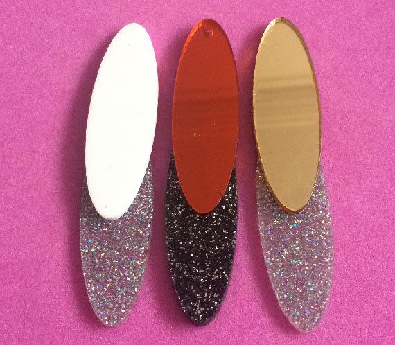 DISCO ELEMENT; Glitter & Mirrored Perspex Choker | Festival & Party Jewellery | Kokomo Design | Bristol