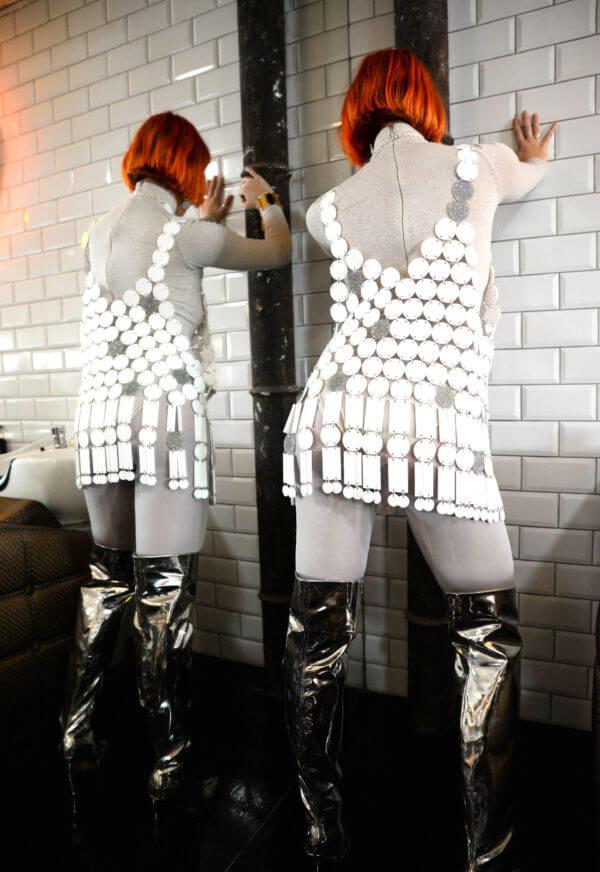 DISCO BZZAAR; Mirrored Perspex Top | Festival & Party Top | Kokomo Design | Bristol