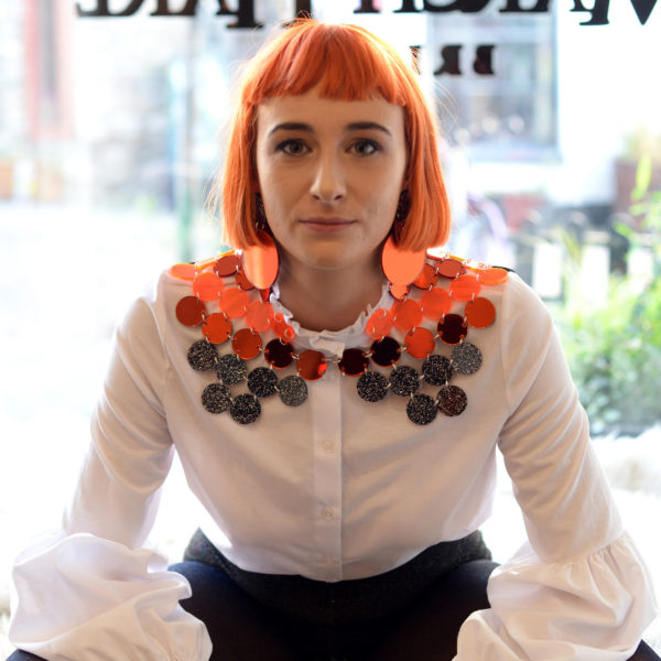DISCO GEO CAPE; Glitter, Mirrored & Matt Perspex Cape | Festival & Party Skirt | Kokomo Design | Bristol