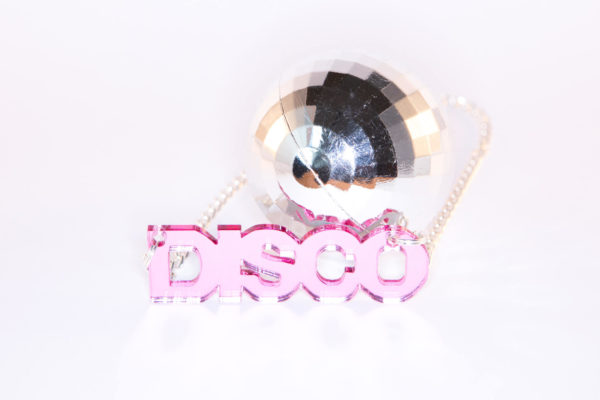 YES; Mirrored Perspex Necklace | Festival & Party Jewellery | Kokomo Design | Bristol