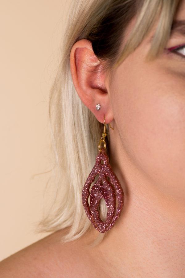 Mirrored Clit Earrings