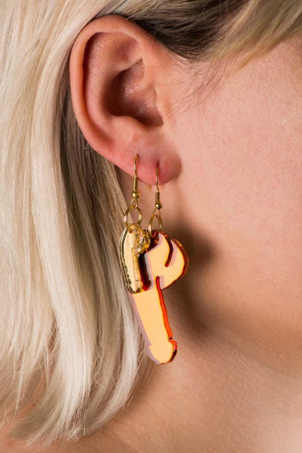 Mirrored Dick Earrings