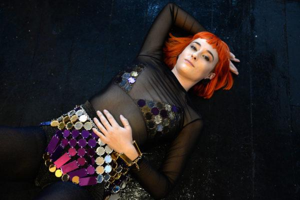 Disco Deco; Mirrored Perspex Skirt | Festival & Party Skirt | Kokomo Design | Bristol