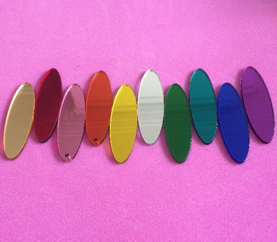 IN COCK NITO; Mirrored Perspex Earrings | Festival & Party Jewellery | Kokomo Design | Bristol