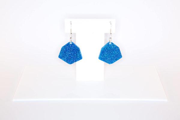IRREGULAR HEXAGON; Glitter Perspex Earrings   Festival & Party Jewellery   Kokomo Design   Bristol