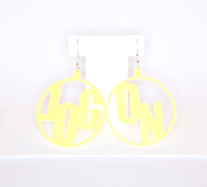 JOG ON; Hoop Perspex Earrings | Festival & Party Jewellery | Kokomo Design | Bristol
