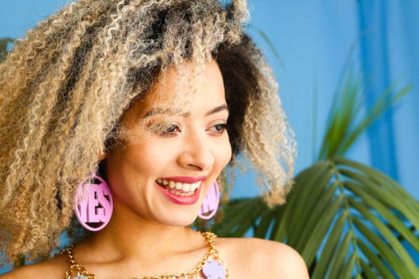 YES PAL; Hoop Perspex Earrings | Festival & Party Jewellery | Kokomo Design | Bristol