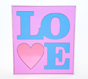 LOVE | Perspex Artwork | Home Decor | Kokomo Design
