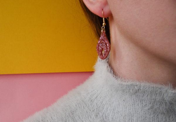 Glitter Clit Earrings