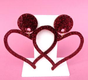 Love Drop Glitter Heart Studs