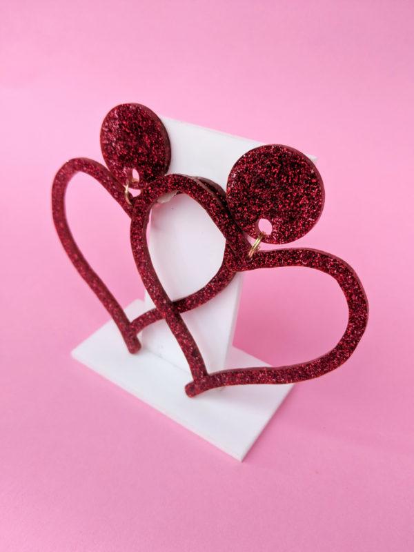 Love Drops Glitter Earrings