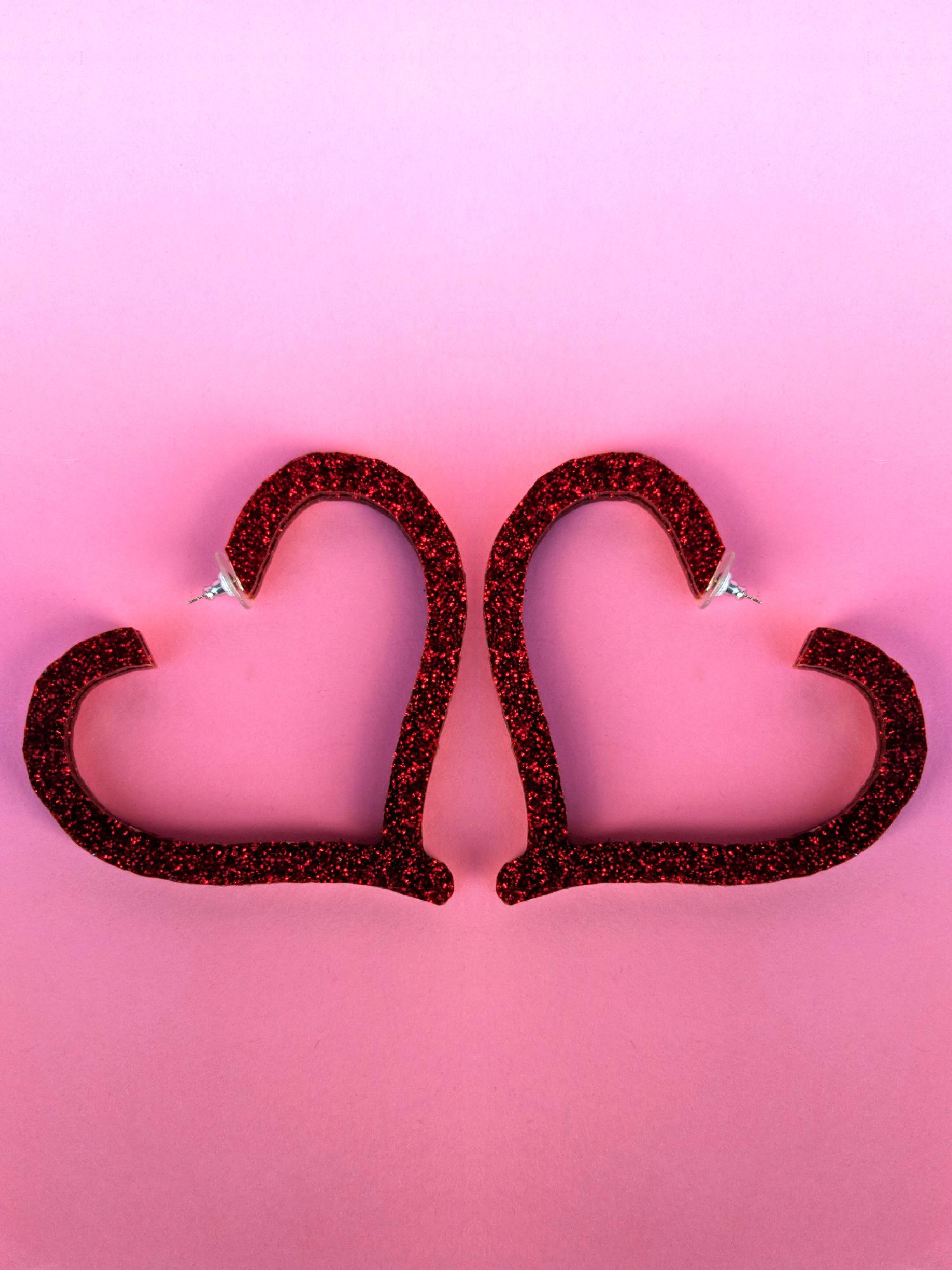 HeartHoopRedGlitter